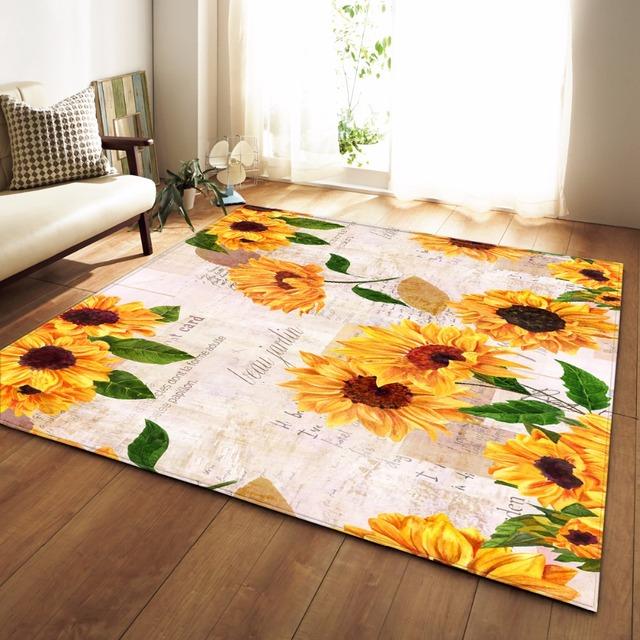 3D Style rug – Sunflowers