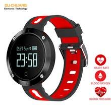 Moda Esporte Digital Relógios de Freqüência Cardíaca pressão Arterial Inteligente Smartwatch Relógio de Calorias Distância Pedômetro Monitor de Sono Saudável