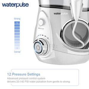 Image 4 - Waterpulse V660 12 pression Oral dentaire Flosser irrigateur V660 eau Pick avec 5 buses outils dhygiène buccale Irrigation orale