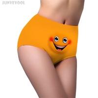 Women Panties High Waist M L XL Quality Women S Briefs Panty Underwear Soft Knicker Smile
