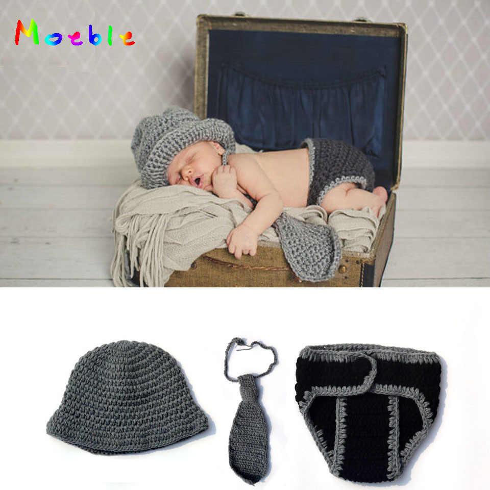 Newborn Necktie Newborn photography prop Newborn boy crochet necktie