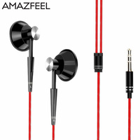 AMAZFEEL A22 Sports Running Headphone Mobile Phone Earpieces Stereo Bass Music Wired Headset Headphone With Micrphone