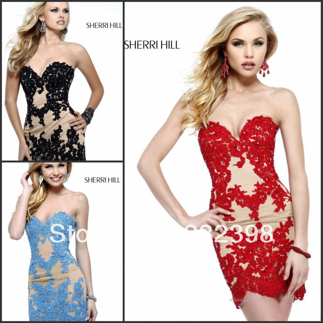 Forever Yours New Arrival Sexy Sheath Short Mini Beaded Appliques
