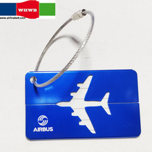 Airbus/Boeing Metal Luggage Tag Aluminum Alloy Silver Air Plane Travel Tags Identity Car Lock Special Personality Cool Accessory
