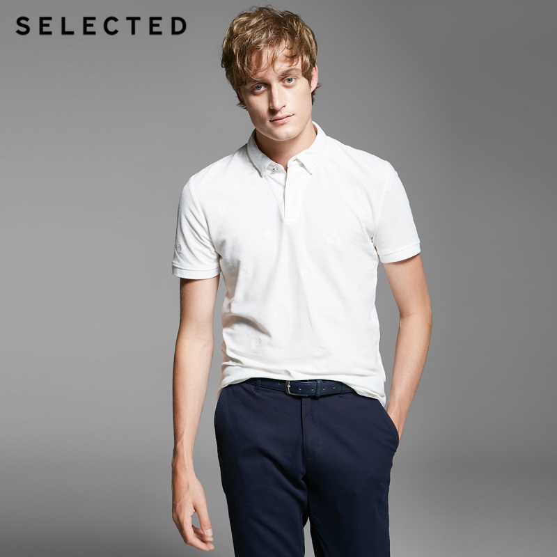 Selected  Men's Double Tapered Knitted Polo Shirt T - Shirt SH | 416206003