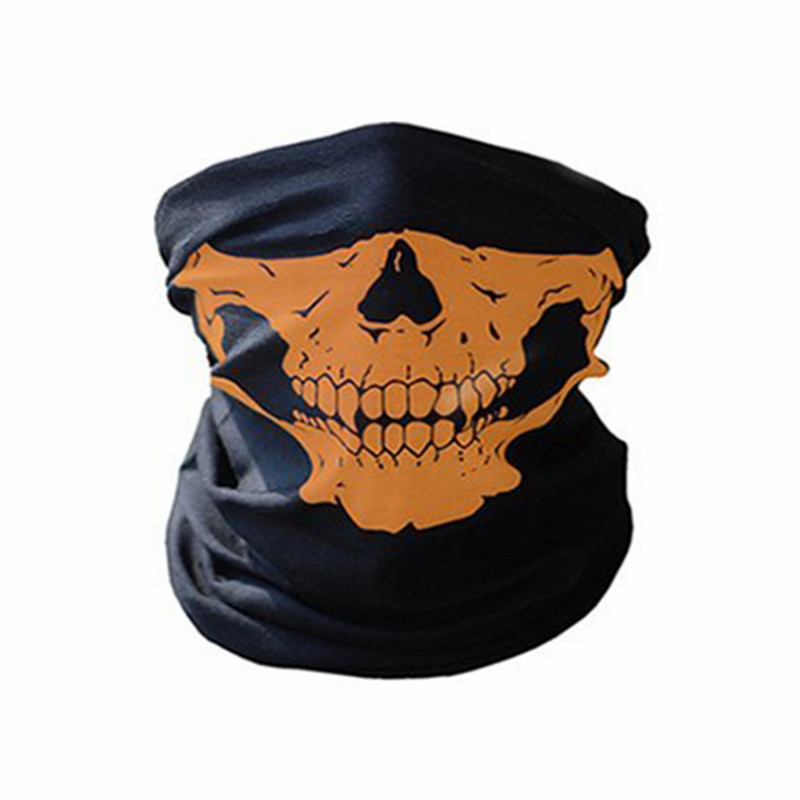 Bike Motorcycle Mask Multifunction Skull Riding Face Mask Women Men Cycling Face Neck Scarf Outdoor Polyester Dust Bandana in Cycling Face Mask from Sports Entertainment