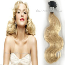 Brazilian Virgin Hair 1b 613 Ombre With 13*4 Closure Body Wave Hair Weft Blonde Bundles Ombre Hair Extensions With Closure 4pcs