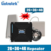 Cellular Signal Amplifier 2G 3G 4G Tri Band Repeater Gsm900 DCS/LTE1800 WCDMA 2100 mhz Cell Phone Booster kit @6.2