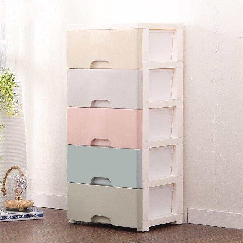 Commode en plastique dans le bureau bricolage 38 cm armoire placard organisateur de rangement pour jouets grande boîte en plastique pour organisateur de chambre - 6