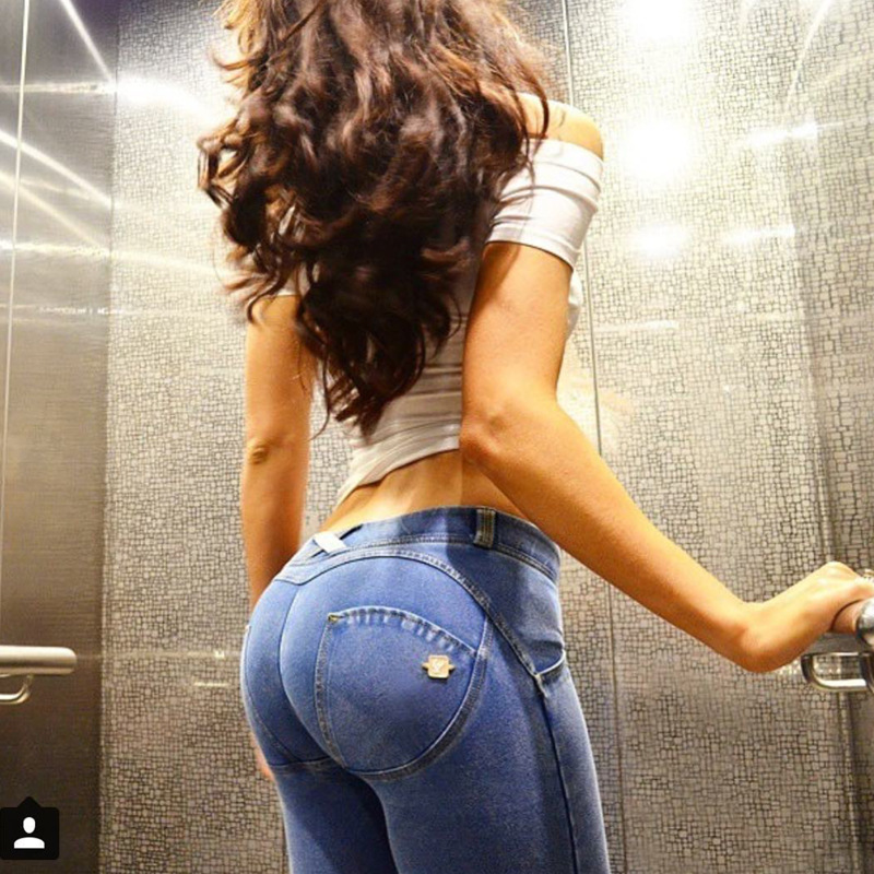 Hot Jeans Femme Taille Basse Elastic Waist Jeggings Jeans Mujer Push Up Slim Skinny Women High