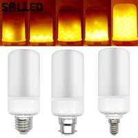 SOLLED 85 265v 99LEDs Simulated Flame Light Bulb Candles Flicker Effect For Xmas Festival Celebration Decoration