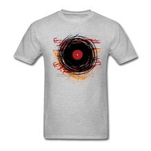 Grunge paint vinyl record men's t-shirt