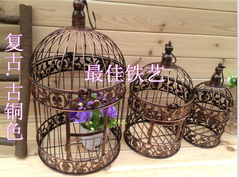 Free delivery diameter 14 cm high 24 cm continental for Petite cage a oiseaux decorative