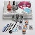 Pro 1 Unidades Fake Maquillaje Pestañas Extensión de la Pestaña Falsa Individual Herramientas Pegamento Pinzas Cepillos Kit Caso de la Alta Calidad