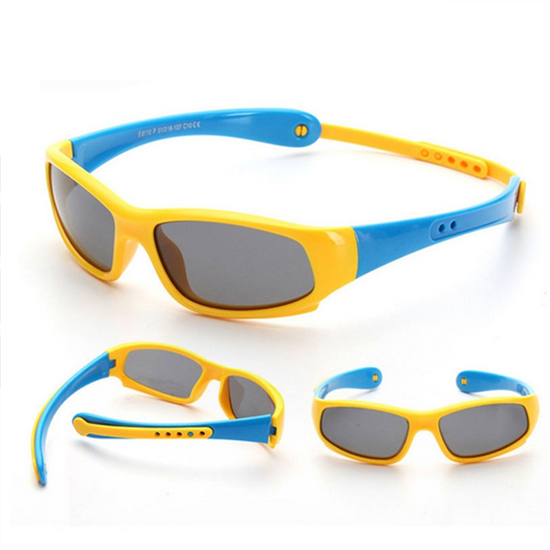 Super Light Kids TR90 Polarized Sunglasses Children Safety Brand Glasses Flexible Rubber Oculos Infantil