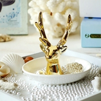Fashion Jewelry plate Necklace Earrings Rings Deer Stand Display Organizer Holder dish gifts wedding decoration ashtray