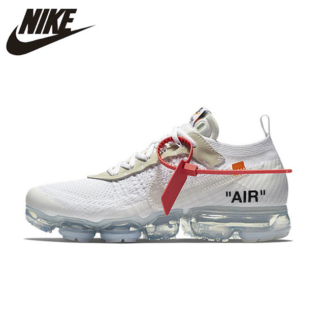 6686ccd2453f2 NIKE X Off White VaporMax 2.0 Authentic AIR MAX Breathable Men's Running  Shoes Sport Outdoor Sneakers AA3831-100 EUR Size M