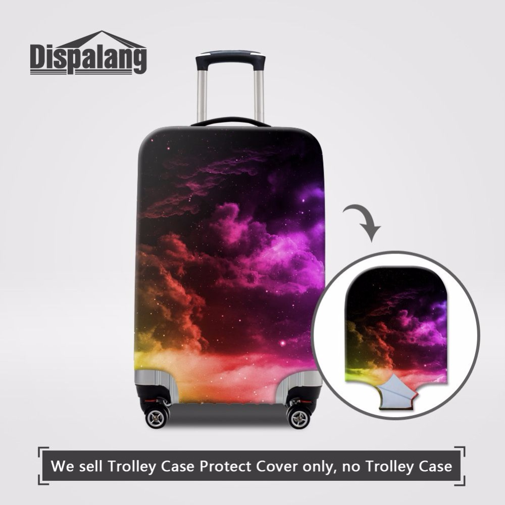 Cute 3D Circle Floral Pattern Luggage Protector Travel Luggage Cover Trolley Case Protective Cover Fits 18-32 Inch