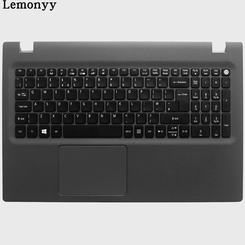 Nova REINO UNIDO teclado do portátil para Acer Aspire E5-573 E5-573T E5-573TG E5-573G E5-522 E5-532 E5-722 E5-582P E15 507 H 56AV Com C caso