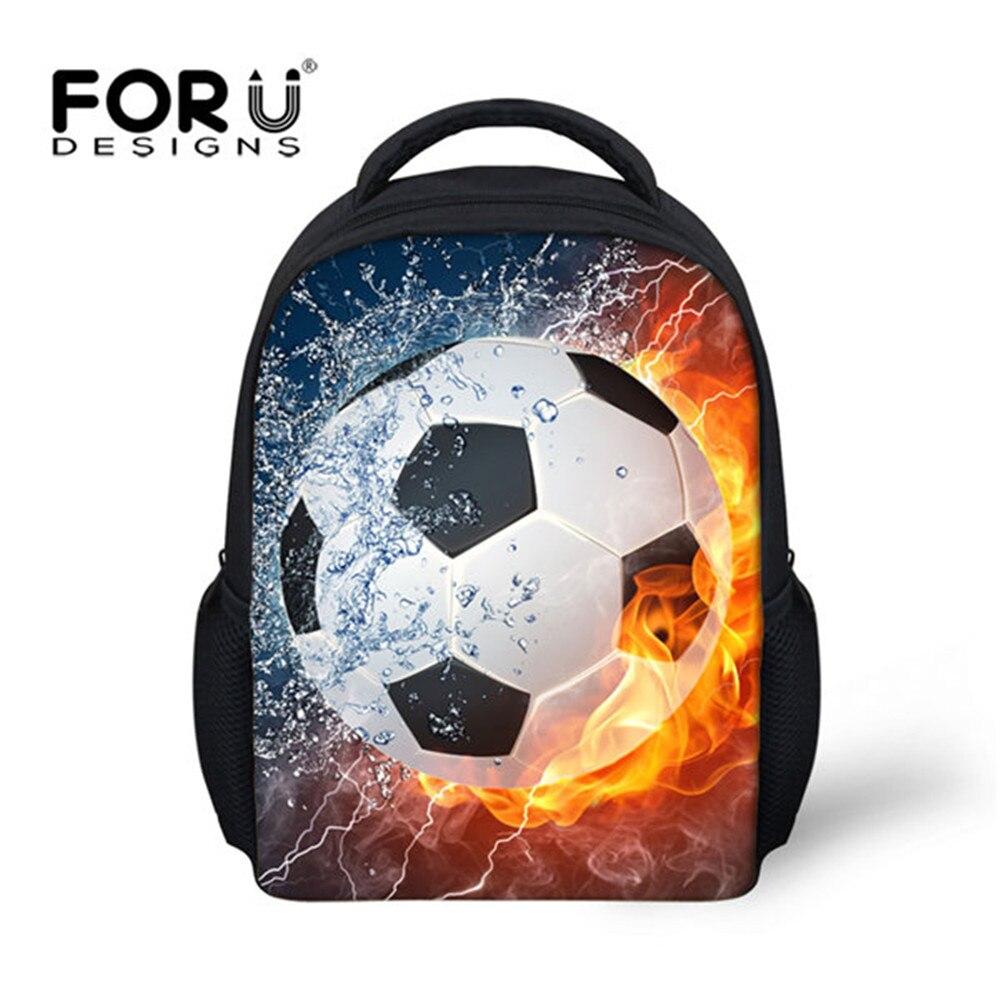 FORUDESIGNS Kids Backpacks Kindergarten School Bag For Boys foot ball/soccer Schoolbag Student Bookbags Children Mini Mochila