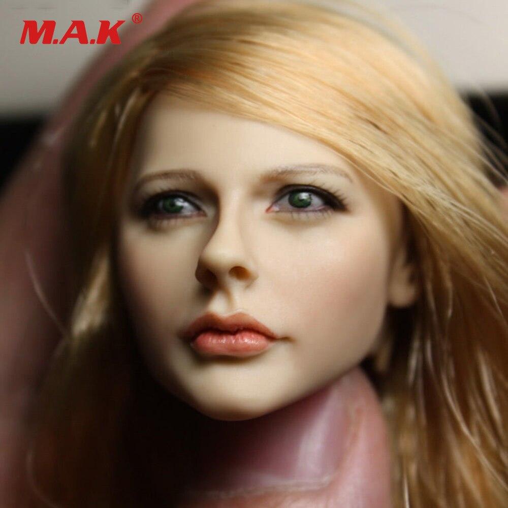 1//6 GACtoys Accessory Beauty Female Long Brown Hair Head Sculpt GC017 B Ver.