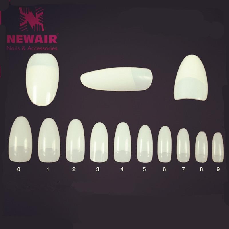 500pcs False Nails French Nail Art Tips Oval Natural Fake Nail Tips ...
