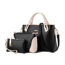 women say handbag 2016 picture package 3 pieces set for crocodile we put S GS handbag shoulder bag messenger bag