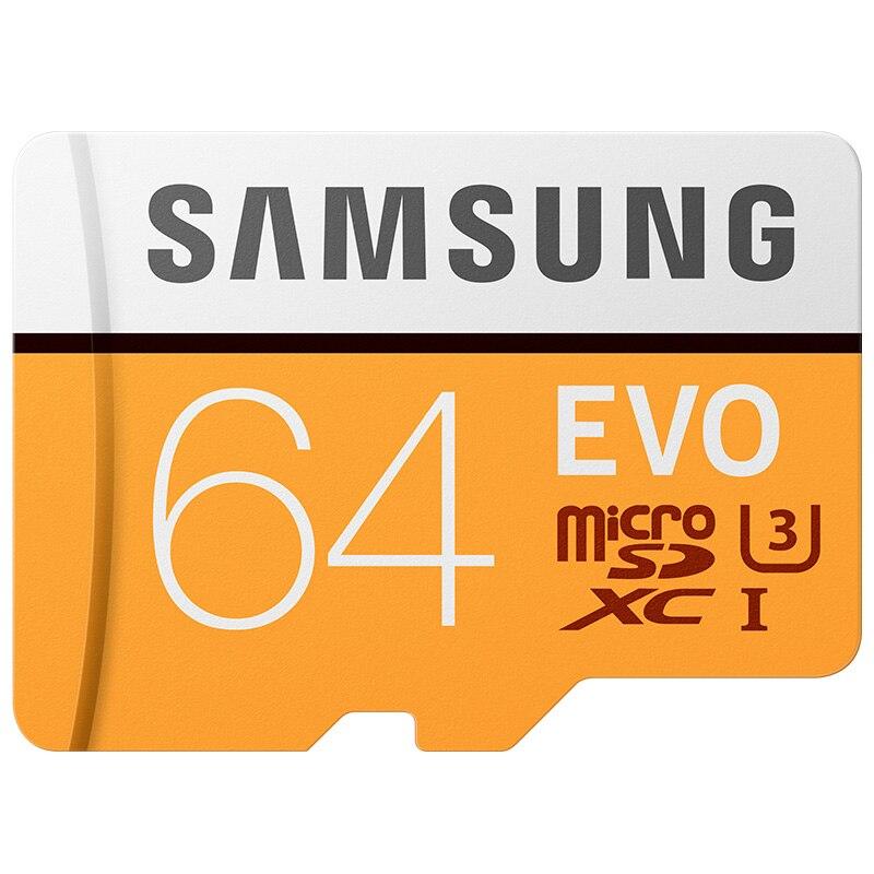 Original Samsung microsd 64GB max100MB/S Class10 Memory Card SDXC U3 4K cartao de memoria TF Card for Smartphone Tablet etc