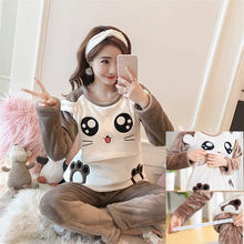 34a2bd6f271f8 winter nursing pajamas Coral Fleece Thick breastfeeding clothes moms  Maternity pyjamas for feeding pregnant women homewear