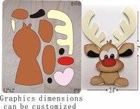 Christmas deer die cutting & Wooden dies fit // Scrabooking