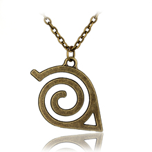 Japan Hot Anime Naruto Leaf Symbol Necklace Pendant