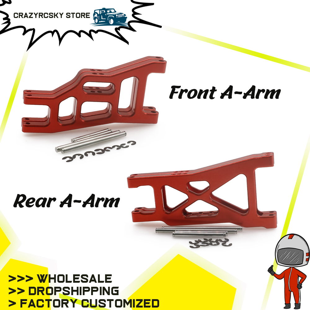 2PCS Alloy Front&Rear Lower Suspension Arm For RC Hobby Model Car 1/10 Traxxas Slash 2wd Short Course Upgrade Parts