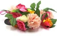 2016 Women Newest Wedding Headband Kids Party Floral Garlands With Ribbon Adjustable Girls Flower Crown Rose