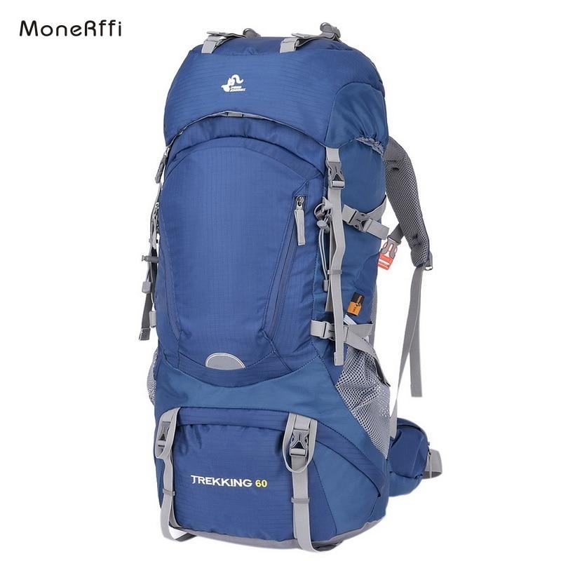 MoneRffi Travel Backpack Outdoor Trekking Mountain Waterproof Hiking Backpack Bags For Men Women