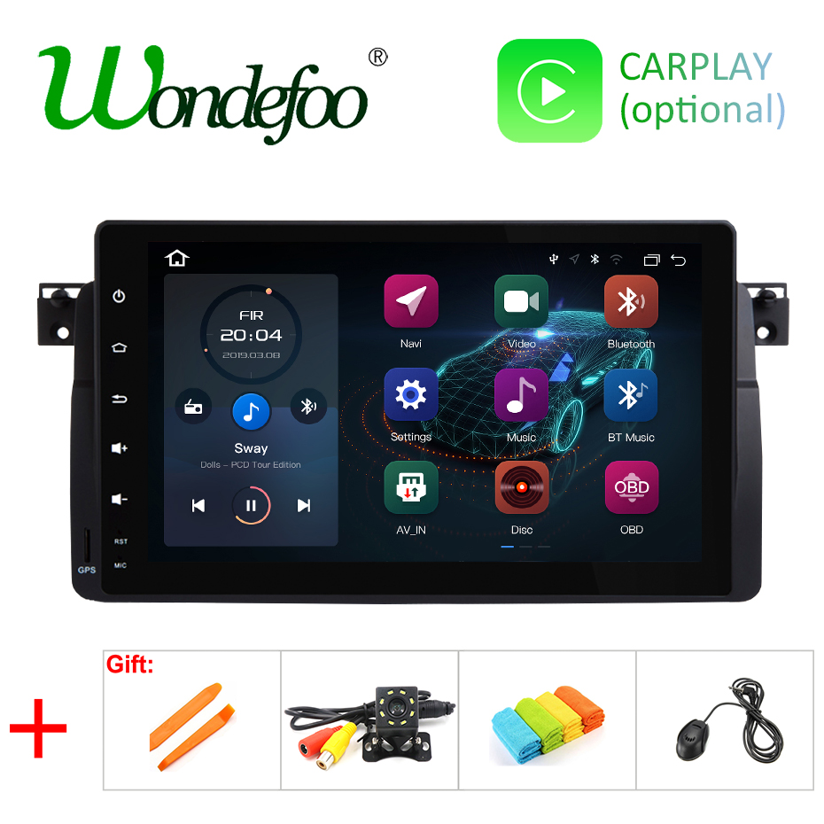 9 DSP IPS Android 9 0 64G car GPS for BMW E46 M3 318 320 325