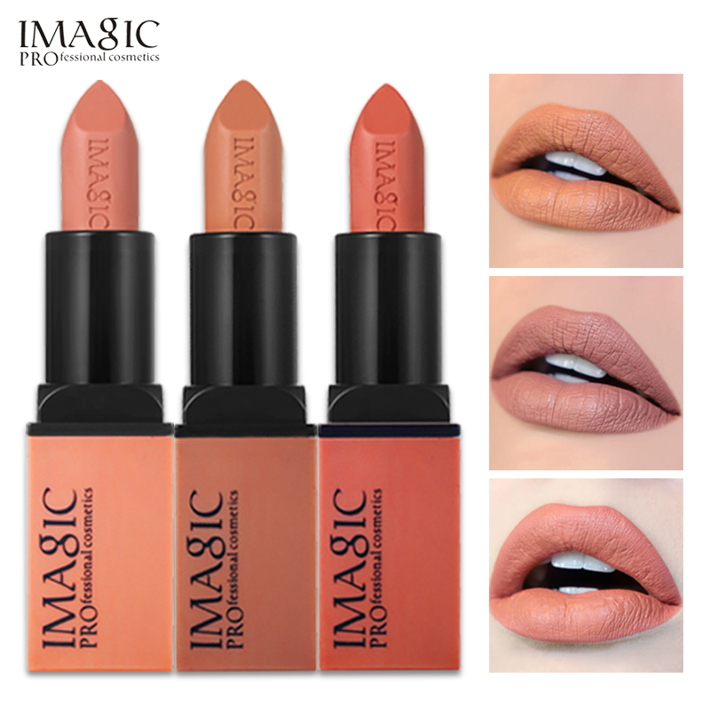 12PCS/LOT IMAGIC Lipstick Creme Dnude Soft Blankety Born Brave Pink Lipstick 3 Colors Lip Paint Kit комплект белья pink lipstick