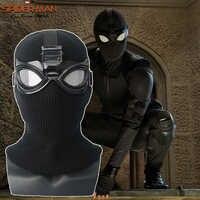 Spiderman Weit Von Zu Hause Stealth Spinne Mann Cosplay Noir Kostüm Schwarz Halloween Erwachsene Maske Helm Gläser Voller Kopf Requisiten Partei