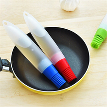 1pc Silicone Brush Liquid Oil Pen Cake Butter Bread Pastry Brush Baking Tool  BBQ Utensil Safety Basting Brush