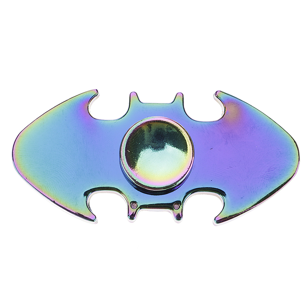 Bat Colorful Metal Dual ADHD Anxiety Autism Stress Reducer Fidget Hand Spinner
