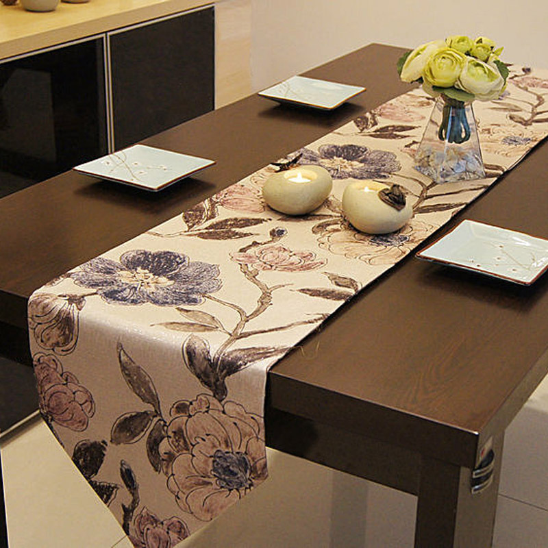 Classic floral printing Table Runner Table Cloth restaurant Cafe Home Decoration cover 33*200cm 1pcs price Free Shipping ...