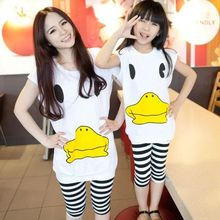 2016 rubber duck Matching Mother Daughter Clothes Family Look Girl and Mommy and  Me clothes Parent-child Outfit Ma e Filha Set