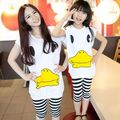 2017 rubber duck Matching Mother Daughter Clothes Family Look Girl and Mommy and  Me clothes Parent-child Outfit Ma e Filha Set