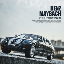 1 24 Maybach alloy font b car b font models collection Decoration six open the door