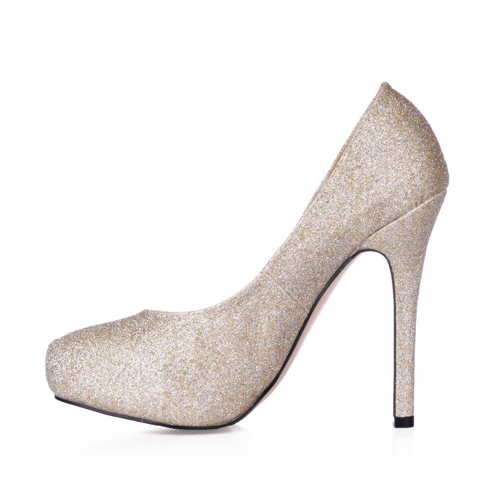 Große größe bling bling frauen pink/gold high heels party pumps ...