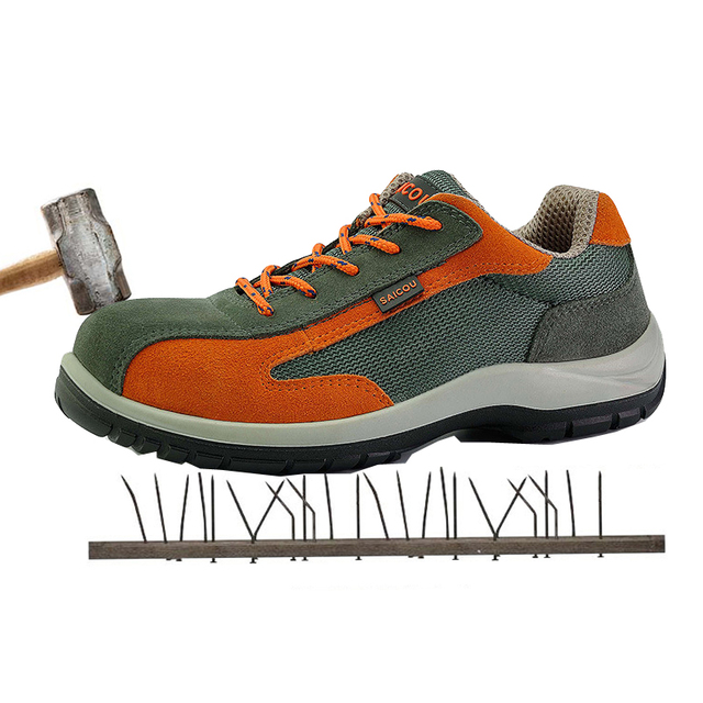 2ab4f35497d09 Safety shoes Air-permeable smash - proof puncture - proof protective  Footwear shoes indestructible shoes Footwear