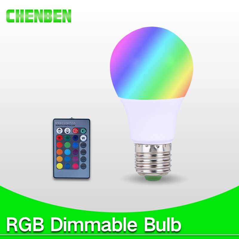LED RGB Bulb E27 3W 5W 7W 110V 220V Dimmable Lamp Light Spot LED Night lights with 24key Remote Control Holiday Home Lighting itimo wireless led bulb with remote control dimmable 220v e27 home indoor lighting night light us plug bedroom light lamp