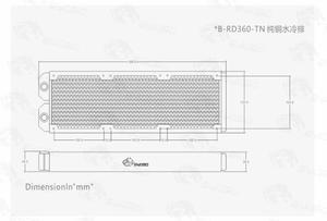 Image 2 - Bykski Cornici E Articoli Da Esposizione 360 millimetri di Acqua Di Raffreddamento Del Radiatore di Rame PC Decorazione di Scarico Liquido Dissipatore di Calore Per 12cm Ventola di Circa 30 millimetri, b RD360 TN