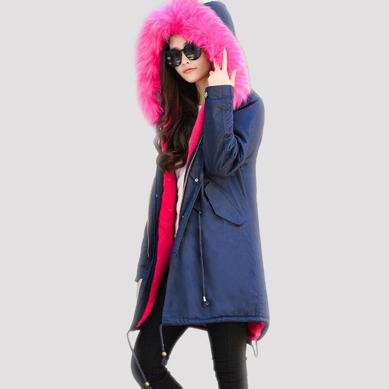 2017 New Arrival winter jacket women Luxury Fur Parka Real Raccoon Fur Collar Jacket manteau femme hiver hooded warm fashion top luxury finland raccoon fur hooded 90