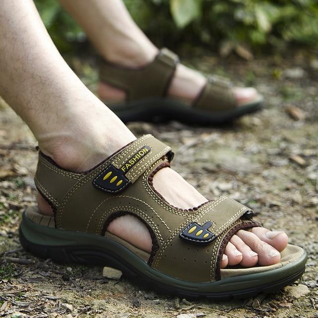 Summer Man Outdoor Sandals Camping Breathable Ultra Light Walking Shoes Wading Mens Sandalias