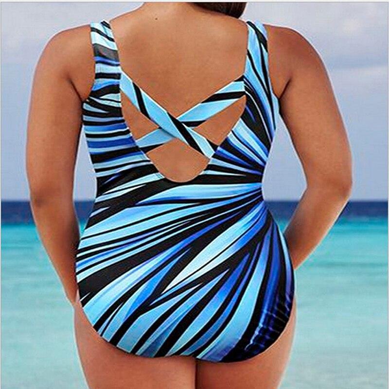 New Plus Size 5XL Women Colorful Beachwear Swimsuit One Pieces Women Sexy Backless Bathing Suit Women Summer Beach Wear 5
